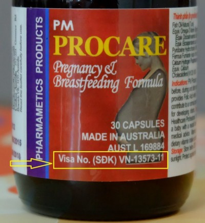 Cách phân biệt thuốc Procare chính hãng sản xuất tại Australia 2