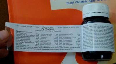 Cách phân biệt thuốc Procare chính hãng sản xuất tại Australia 5