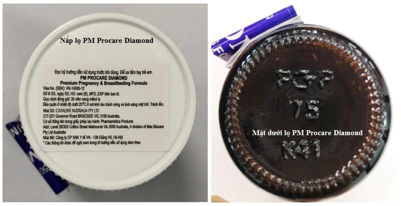 Cách nhận biết thuốc PM Procare diamond chính hãng sản xuất tại Australia 4