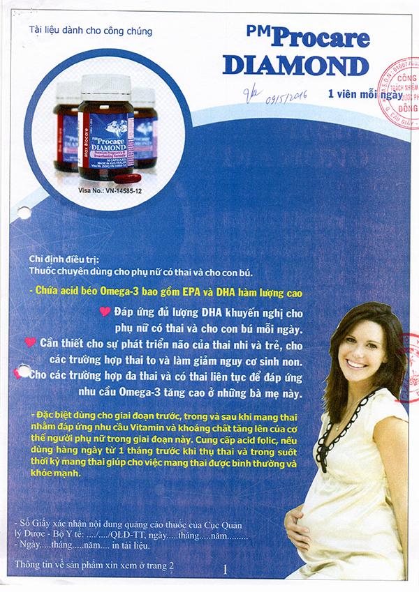 Chứng nhận lưu hành sản phẩm thuốc Procare tại Việt Nam 8