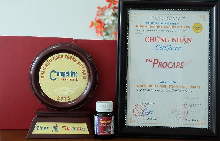 Thuốc Procare nhận giải thưởng Nhãn hiệu cạnh tranh năm 2016 3
