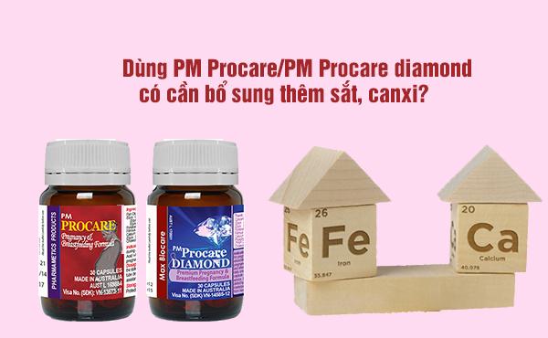 Dùng PM Procare/PM Procare Diamond có cần bổ sung thêm sắt, canxi? 1
