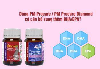 PM Procare/PM Procare Diamond đã cung cấp đủ DHA/EPA?