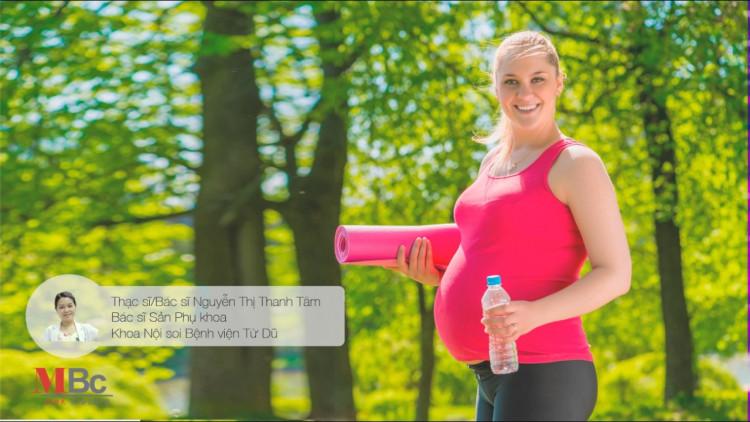 """Sống khỏe: CT tư vấn: """" Sinh hoạt và tập thể dục trong thai kỳ"""" 1"""