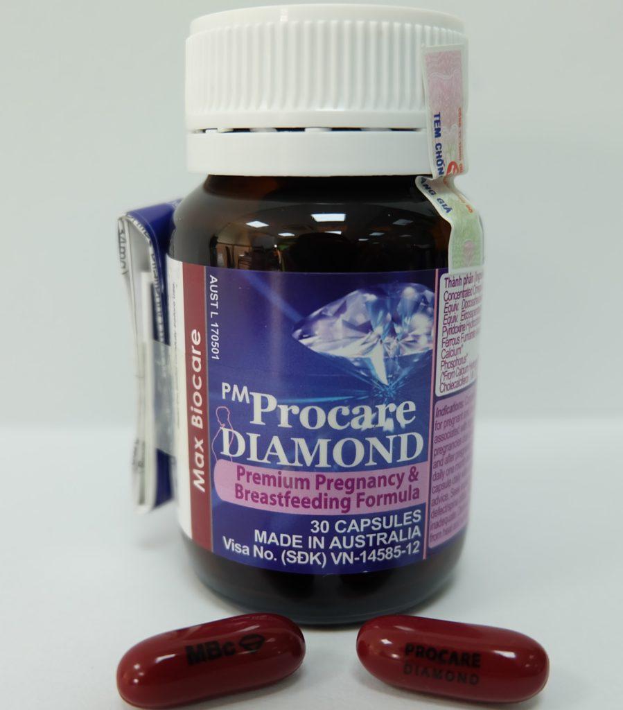 Cách nhận biết thuốc PM Procare diamond chính hãng sản xuất tại Australia 1