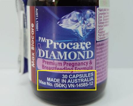 Cách nhận biết thuốc PM Procare diamond chính hãng sản xuất tại Australia 2