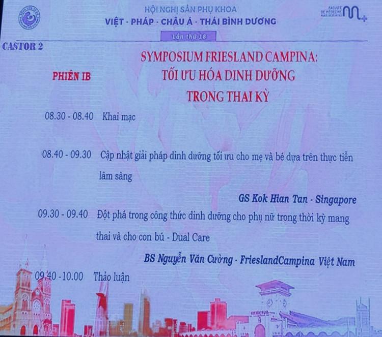 Hội nghị sản phụ khoa Việt – Pháp – Châu Á – Thái Bình Dương lần thứ 18 tại TP. Hồ Chí Minh 2