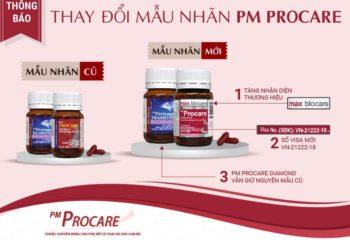 Thông báo thay đổi mẫu nhãn thuốc PM Procare