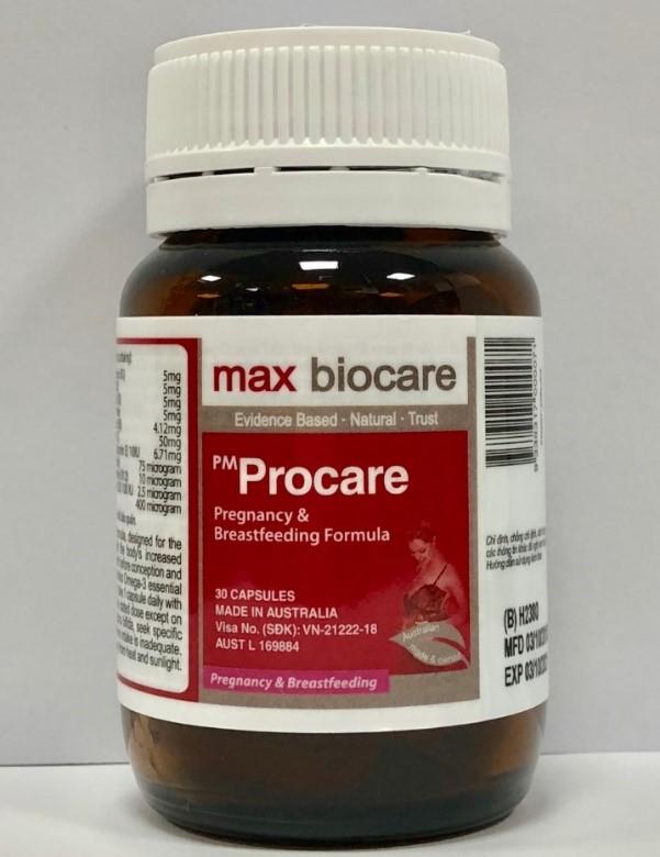 Về hình thức tổng quan bên ngoài lọ thuốc PM Procare 1
