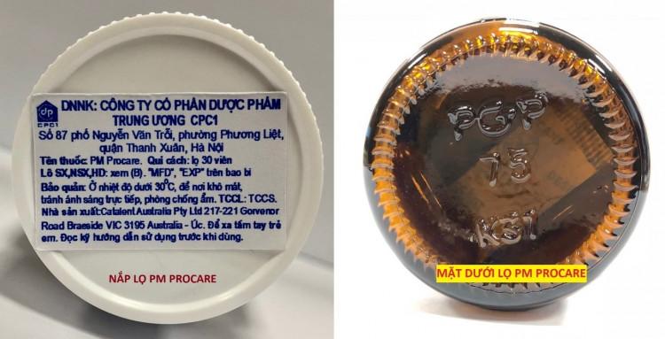 Tem nhập khẩu và mã số lọ thủy tinh 1