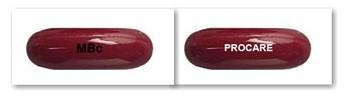 Thuốc được bào chế dưới dạng viên nang mềm, màu nâu đỏ, có in chữ trên mặt viên 1