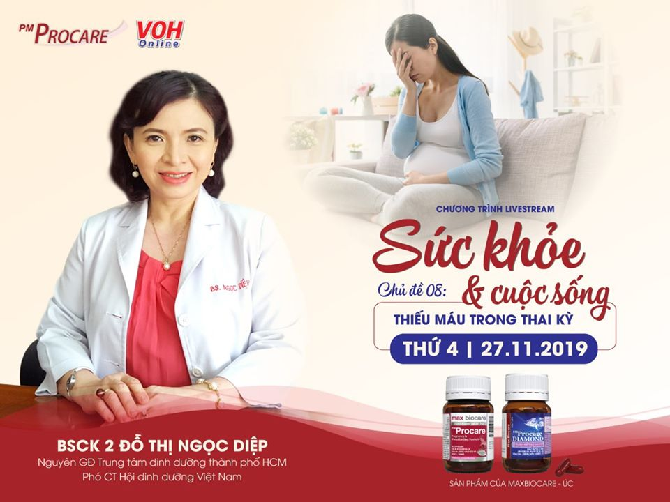 [TRỰC TIẾP] – Radio VOH – Thiếu máu thai kì 2