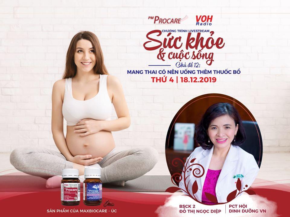 [TRỰC TIẾP] – Radio VOH – Mang thai có nên uống thêm thuốc bổ 2