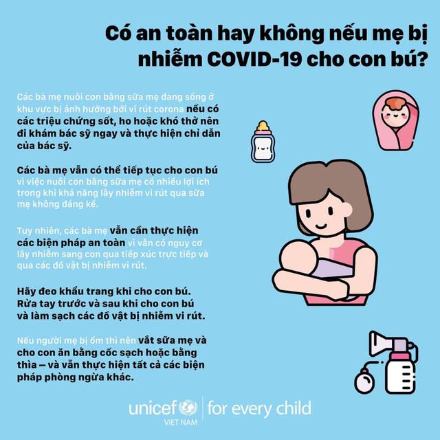 Hướng dẫn của WHO đối với trẻ bú mẹ khi mẹ mắc COVID-19 1