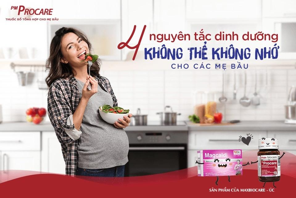 4 nguyên tắc dinh dưỡng không thể không nhớ cho các mẹ bầu 1