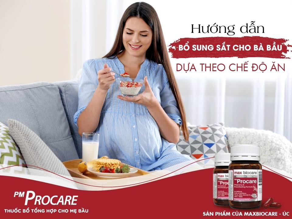 Hướng dẫn bổ sung sắt cho bà bầu dựa theo chế độ ăn 1