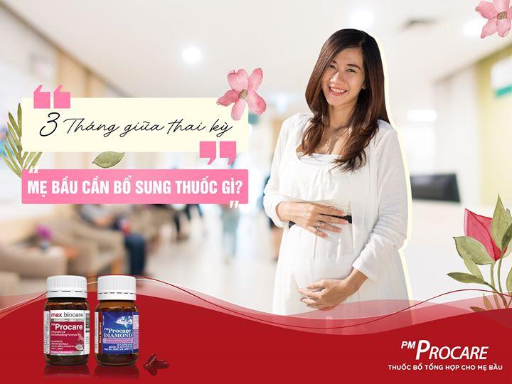3 tháng giữa mẹ bầu cần bổ sung những gì? 1