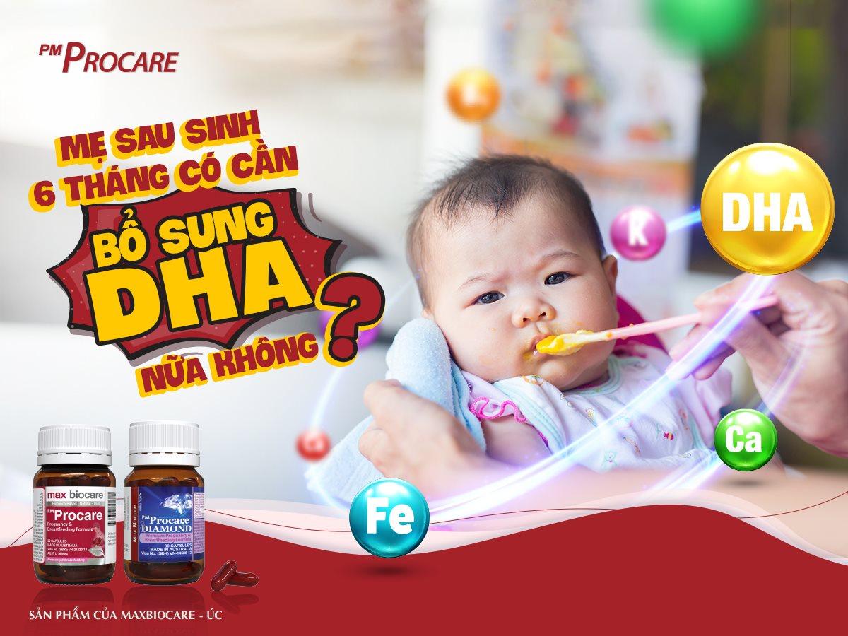 Mẹ sau sinh 6 tháng có cần bổ sung DHA nữa không? 1