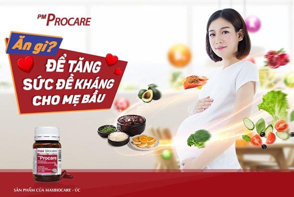 Ăn gì để tăng sức đề kháng cho mẹ bầu? 1