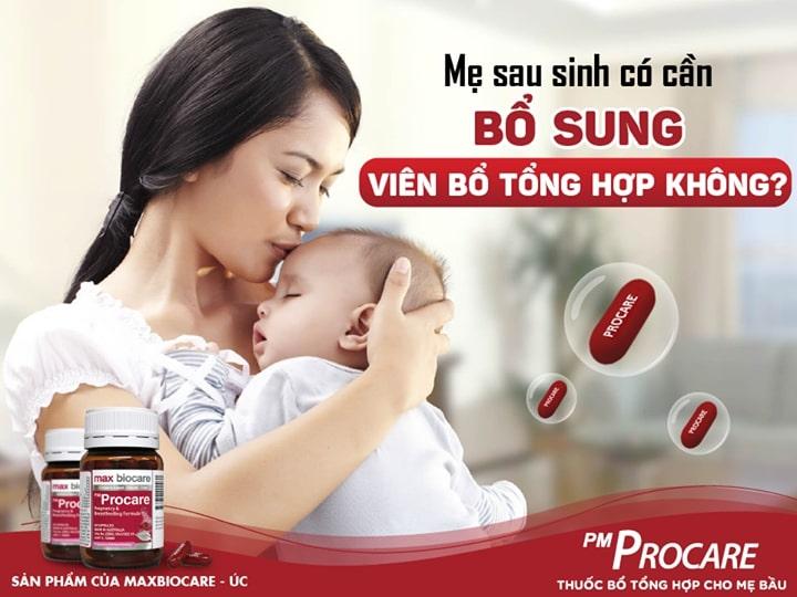 Mẹ sau sinh có cần bổ sung viên bổ tổng hợp không? 1