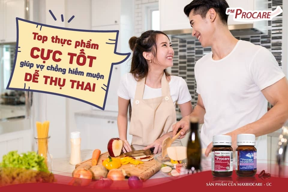 Top thực phẩm cực tốt giúp vợ chồng hiếm muộn dễ thụ thai 1
