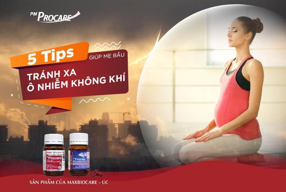 5 tips giúp mẹ bầu tránh xa ô nhiễm không khí 1