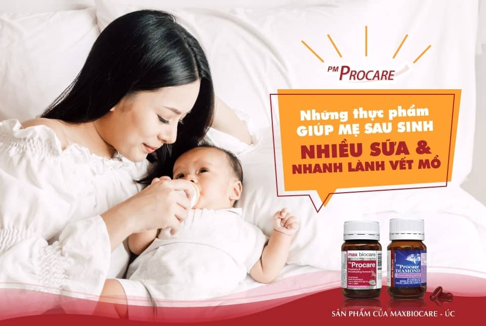 Thực phẩm giúp mẹ sau sinh nhiều sữa và nhanh lành vết mổ 1