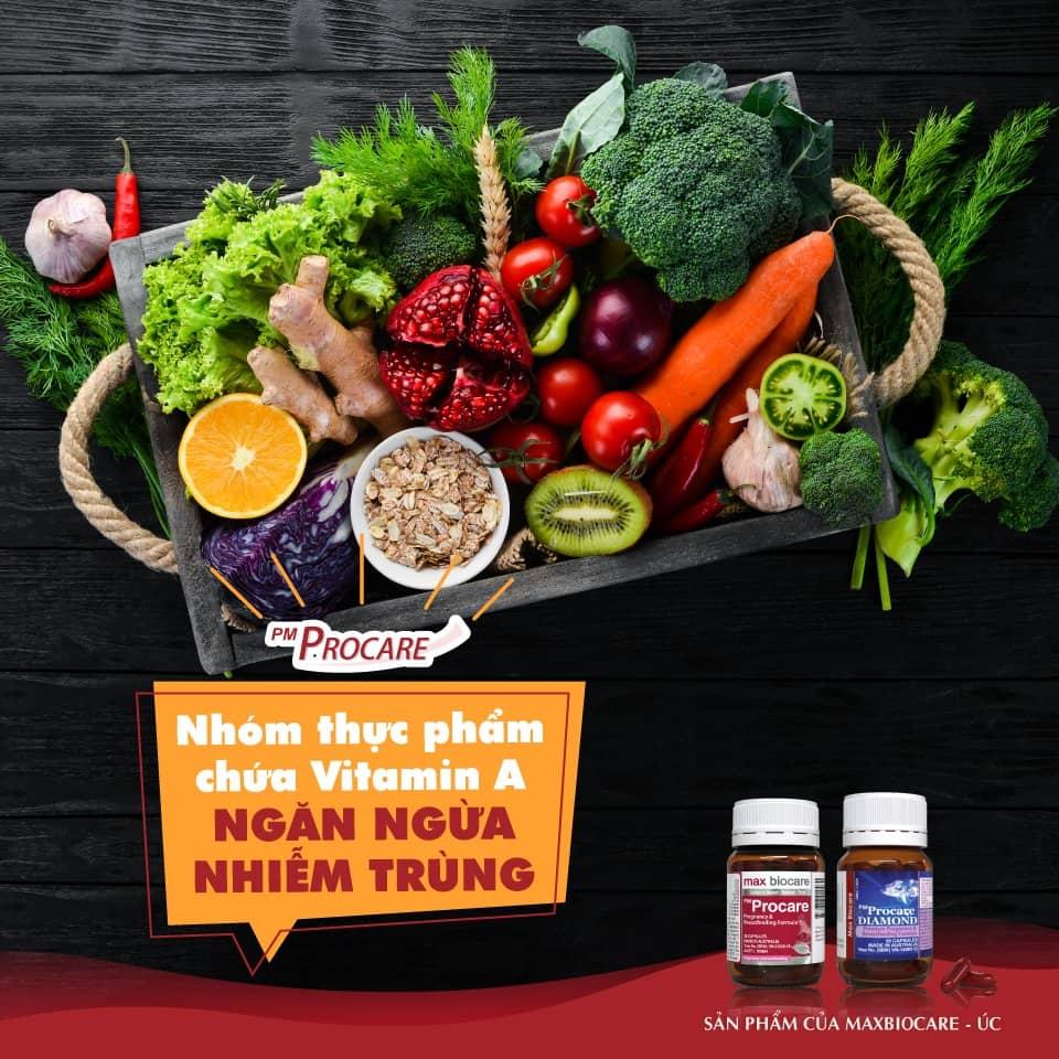 Nhóm thực phẩm chứa Vitamin A – Ngăn ngừa nhiễm trùng 1