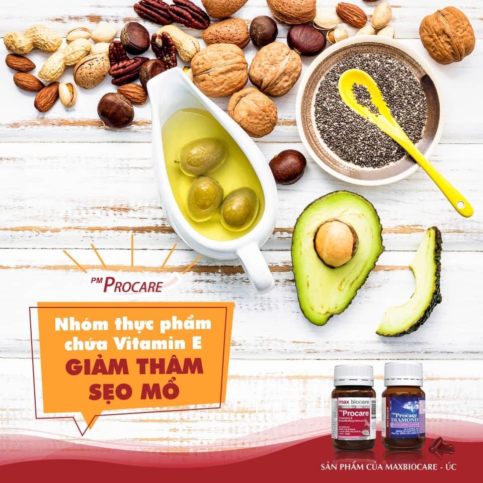 Nhóm thực phẩm chứa Vitamin E – Giảm thâm sẹo mổ 1