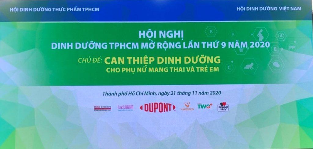 """Hội nghị dinh dưỡng TPHCM mở rộng lần IX năm 2020 với chủ đề """"Can thiệp dinh dưỡng cho phụ nữ có thai và trẻ em"""" 1"""