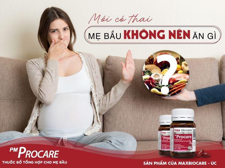 Mới có thai mẹ bầu không nên ăn gì? 1