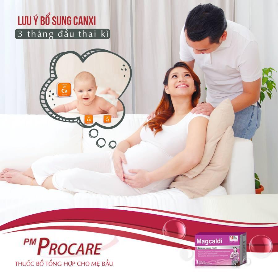 Lưu ý khi bổ sung canxi 3 tháng đầu thai kì 1