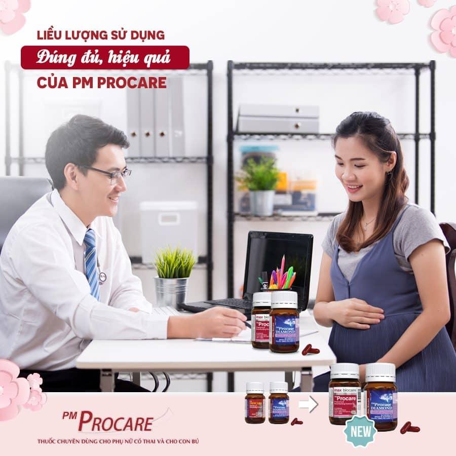Liều lượng sử dụng đúng đủ, hiệu quả của PM Procare 1