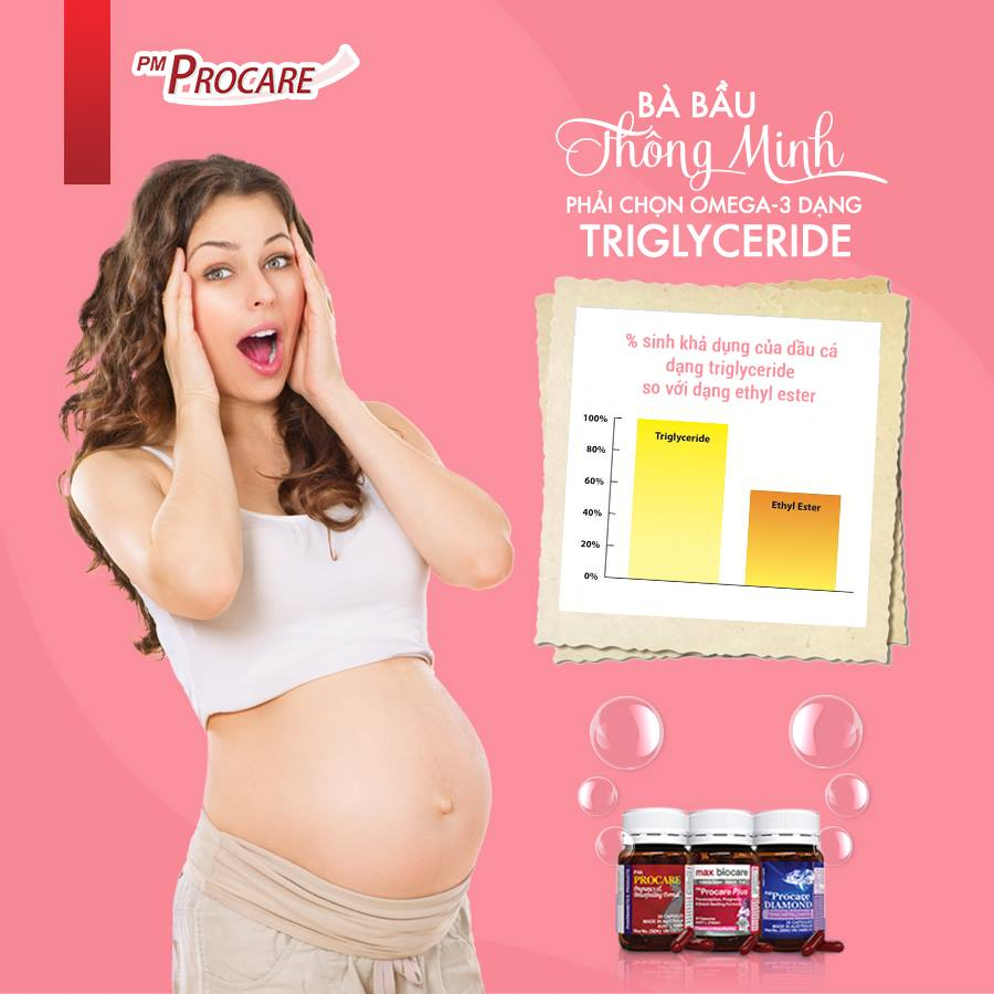 Bà bầu thông minh, phải chọn omega-3 dạng triglyceride 1