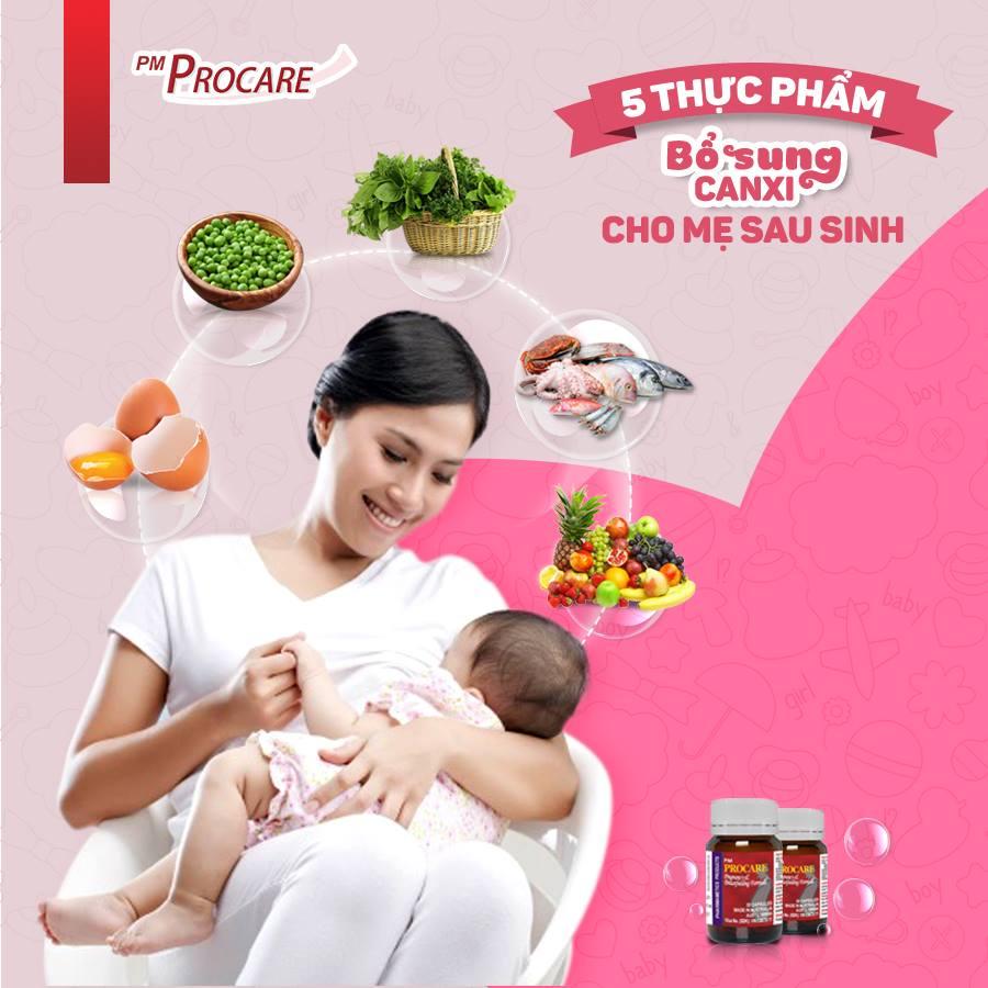 5 thực phẩm bổ sung canxi cho mẹ sau khi sinh 1